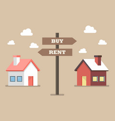 property buy and rent signs vector image