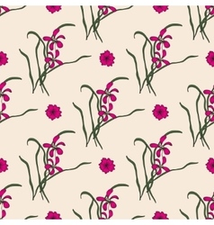 Seamless pattern with chinese orchid vector image vector image