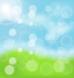 Spring Bokeh Background vector image