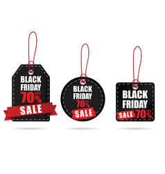 tag with black friday on it color set vector image vector image