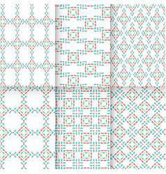 6 retro patterns vector