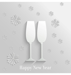 Abstract background with two glasses of champagne vector
