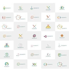 Abstract company logo collection Set of vector image