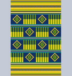 African print cloth kente seamless pattern vector