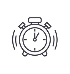 alarm clock line icon sign vector image