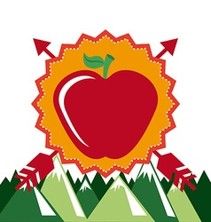 apple whit arrows vector image
