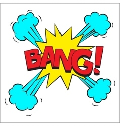 Bang sound effect vector image