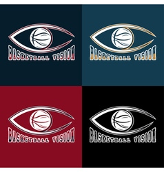 Basketball vision design template vector