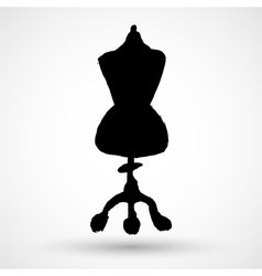 Black grunge silhouette of a dressmakers mannequin vector