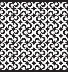 black white illusion graphic pattern background vector image