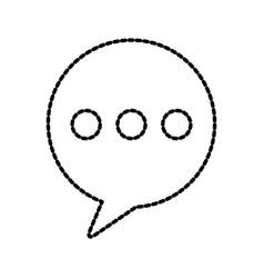 bubble speak message conversation chat web vector image