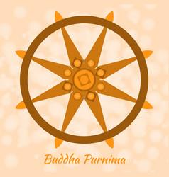 Buddhist holiday - vesak dharmachakra vector