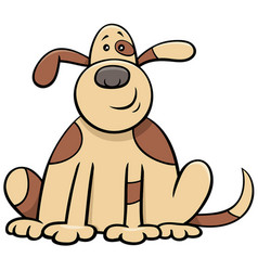 cartoon spotted dog comic animal character vector image