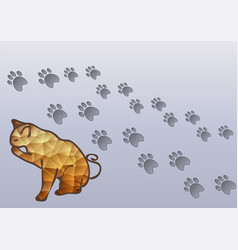 cat and cats traces vector image