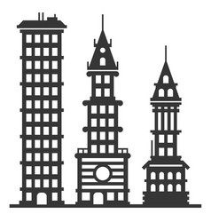 city modern skyscraper buildings set vector image