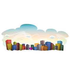 cityscape with buildings on sky background vector image