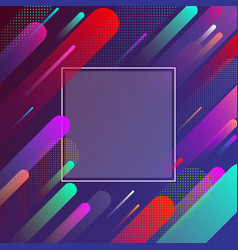 colorful background with frame and geometric vector image