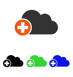 create cloud flat icon vector image