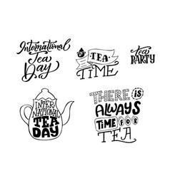 Creative poster with hand drawn lettering vector