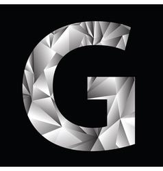 crystal letter G vector image