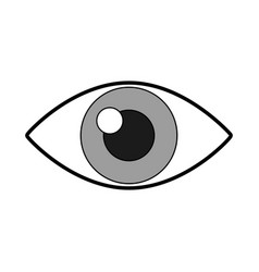 cute eye cartoon vector image