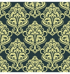 Dainty floral yellow seamless pattern vector