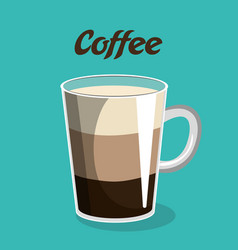 Delicious coffee cup isolated icon vector
