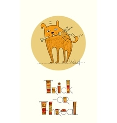 Doodle design for halloween card vector