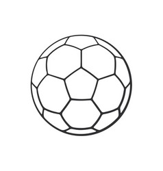 Doodle leather soccer ball vector