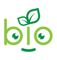 emblem of bio vector image