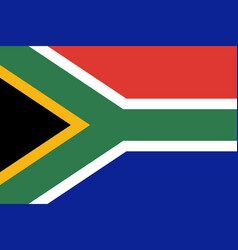 flag of south africa in official rate and colors vector image
