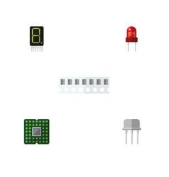 flat icon electronics set of memory resist vector image