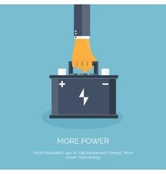 Flat web icon Battery accumulator vector image