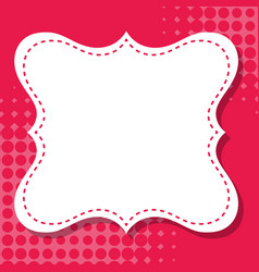 Frame template design with red background vector