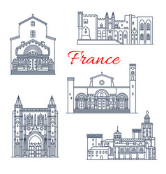 france avignon and arles architecture vector image