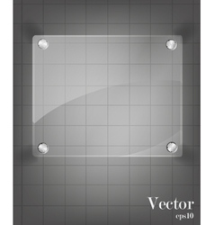 Glass framework set vector