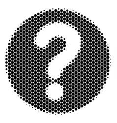 Halftone dot query icon vector
