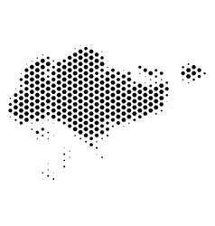 Hex-tile singapore map vector