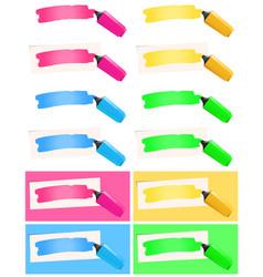 Highlighter and felt tip pen set vector