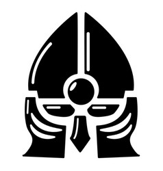 historical knight helmet icon simple style vector image