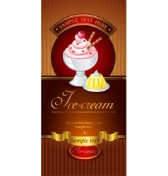 Ice-cream banner vector image
