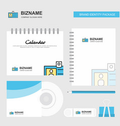 id card logo calendar template cd cover diary and vector image