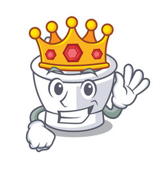King mortar mascot cartoon style vector