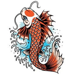Koi fish tattoo vector