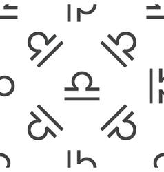 Libra pattern vector image