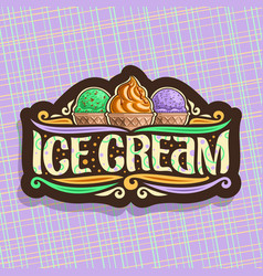 Logo of italian ice cream vector