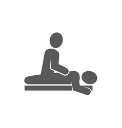 massage icon on white background vector image