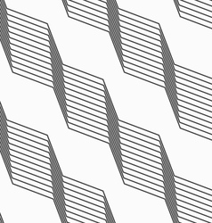 Monochrome pattern with light gray striped vector image
