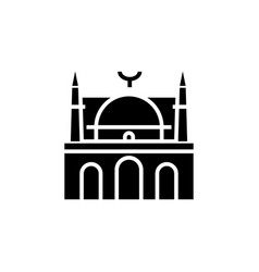 Mosque facade - arabic temple church icon vector
