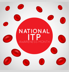 National itp awareness month logo icon vector